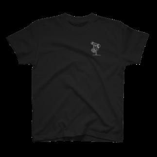 K :)のINV白胸ポケ T-shirts