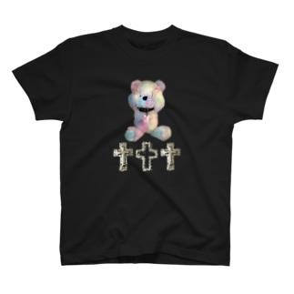 Peek-a-boo CROSS Teddy Rainbow T-shirts