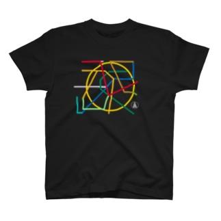 台北メトロな黒T T-shirts