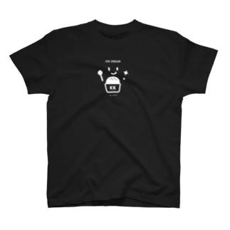 KK ICE CREAM BLACK2 T-shirts