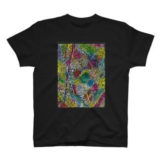 ペイズリー調カラフル線画 T-shirts