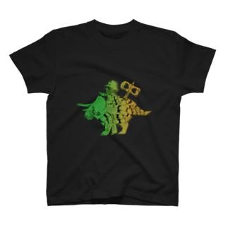 恐竜おもちゃくん透過 T-shirts
