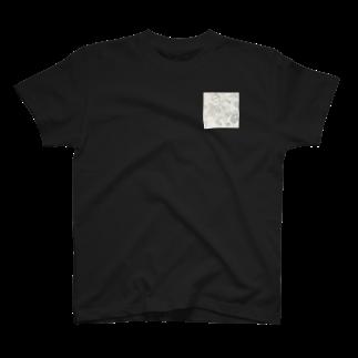 AzulFabの時計の中のひとたちmono T-shirts