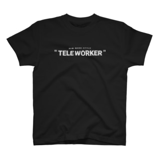 TELE WORKER / BLACK T-shirts