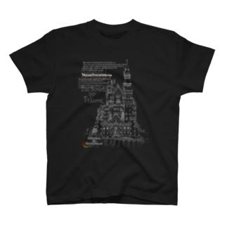 ノイシュヴァンシュタイン城(ドイツ語付き) T-shirts