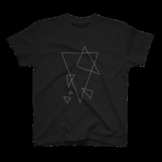 ありすましんの幾何学黒 T-shirts