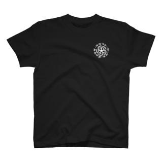 ギョウザクラフトワークス(白字・カタカナ) T-shirts