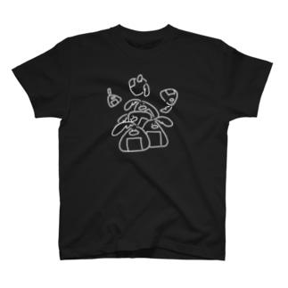 しらがきももえ / ヒラタドリのヒラタドリ(白いおにぎり) T-shirts