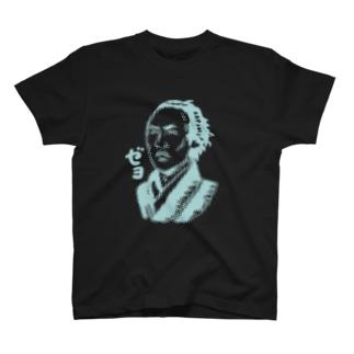 ドッツ_坂本龍馬_ダークカラー T-shirts