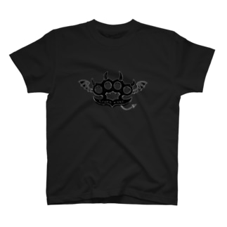 Ryoku-Knuckle devil b-black T-shirts