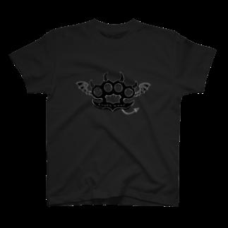 Ryoku のRyoku-Knuckle devil b-black T-shirts