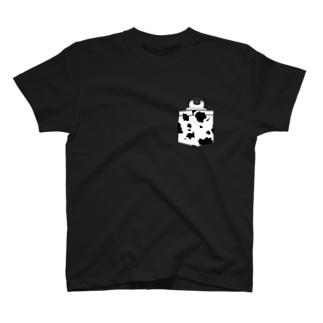ポケットT風 皇帝ペンギン(牛柄) T-shirts