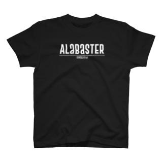 Alabaster ロゴTXT(白文字) T-shirts