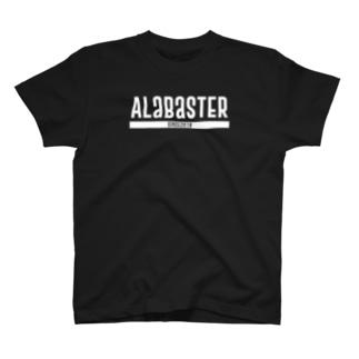 AlabasterロゴTXT CF T-shirts