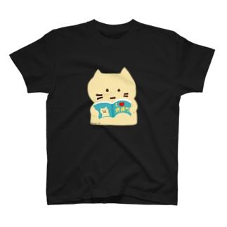 【Full Colored】本好きねこ The BOOK / BK-T1 T-Shirt