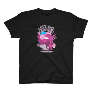 キャンプ行こう! 黒2 T-shirts