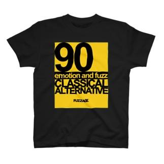 FUZZAGE No.8 Classical Alternative Rock (Black/Yellow) T-shirts