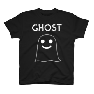 GHOST IN THE SHEET (White Line) T-shirts