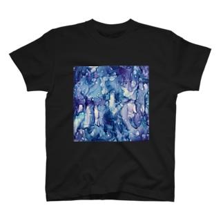 Yoshiki houseのRain glass T-shirts
