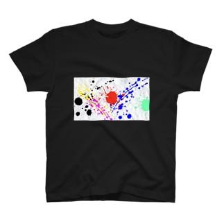屑紙ペイント T-shirts