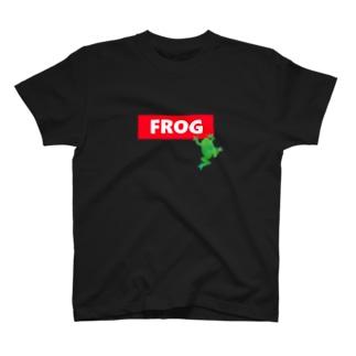 赤ロゴボックス🐸蛙 T-shirts