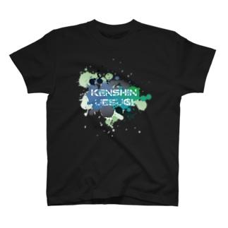 武将ネームデザイン「上杉謙信」 T-shirts