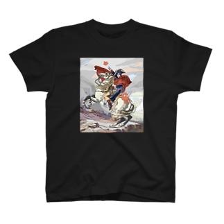 イラスト「サン=ベルナール峠を越えるボナパルト」 T-shirts