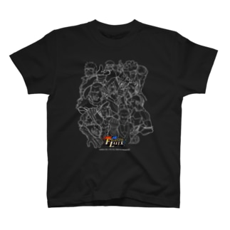 Fighting Layer - White Line Drawing (白い線画) T-shirts