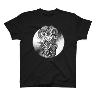 夢羊ver.2 泥中のレプリカ(モノクロ) T-shirts