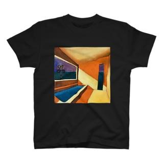 オレンジ色のバスルーム T-shirts