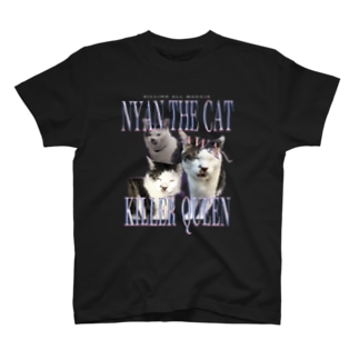 THE SHOP 1021のNYAN KILLER QUEEN T-shirts