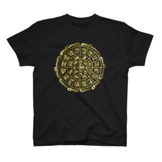 龍体文字フトマニ図ゴールド T-shirts