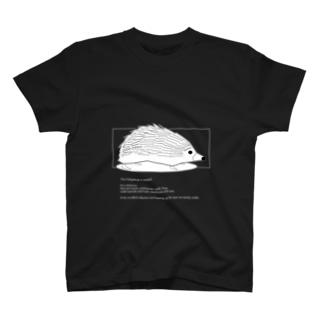 動物図鑑 ハリネズミ(濃色) T-shirts