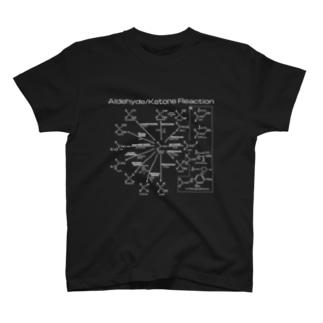 U Libraryのアルデヒド・ケトンの反応白(有機化学) T-shirts