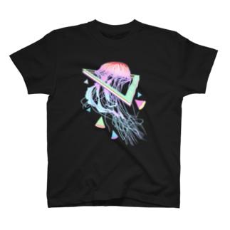 美的Vaporwaveクラゲオーシャン T-shirts