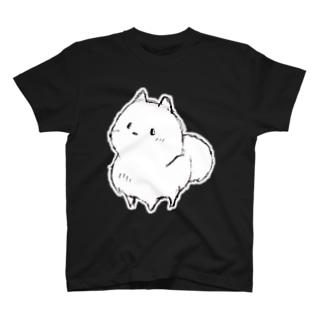 ハッピーポメ フチ有り 手描き T-shirts