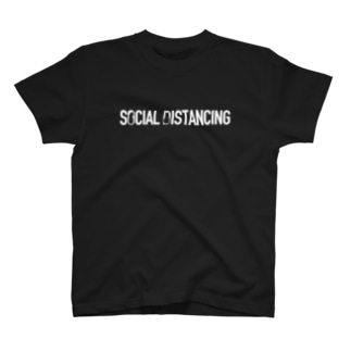 SOCIAL DISTANCING CATS(White) T-shirts