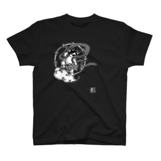雷神千坊モノクロ T-shirts