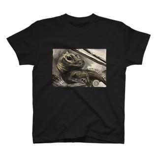 tashiroriekoホカケトカゲ T-shirts