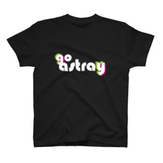 go astray ずれたロゴ 濃色ベース用 T-shirts