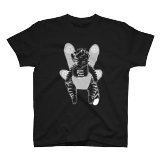 【白黒反転】おねんねワータイガーベビー(抱っこ) T-shirts