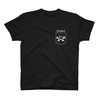 ベクトルPOCKET/スカル-simple- T-shirts