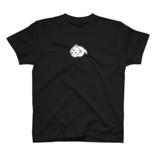 上目遣いの白豆柴 T-shirts