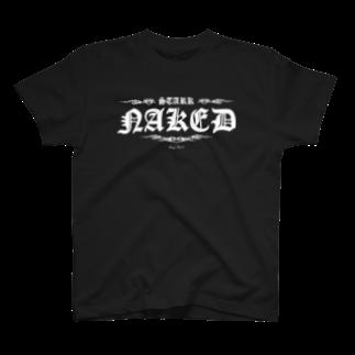 Ray's Spirit レイズスピリットのSTARK NAKED(WHITE) T-shirts