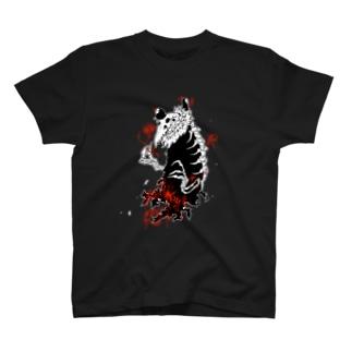 大トリ小トリ(色背景用)※白フチあり T-shirts