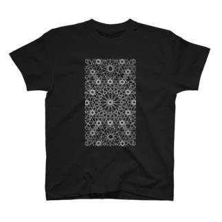 ジオメトリック白 T-shirts