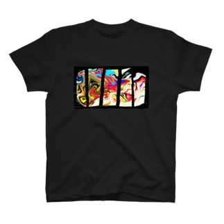 マーブル/CRUSHED T-shirts