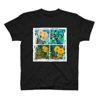 ナスタチウムたちのつぶやき T-shirts