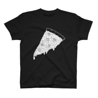 pizza白 T-shirts