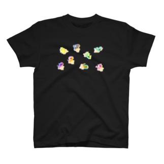 あしゆびふれんずグリッチ T-shirts